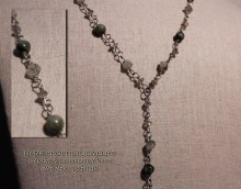 Cat Eye and Labradorite Y Necklace