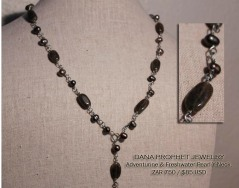 Adventurine and Freshwater Pearl Y Necklace